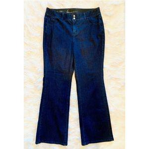 LANE BRYANT Flare Leg Dark Wash Jeans